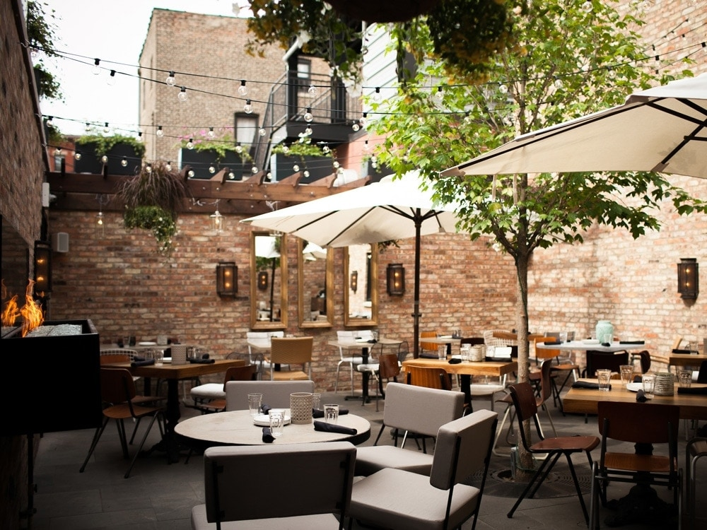 Shade Umbrellas By Day, Twinkling Lights By Night, And A Buzzing Crowd At  All Hours Have Made This Bustling Lincoln Park Patio One Of The  Neighborhoodu0027s ...